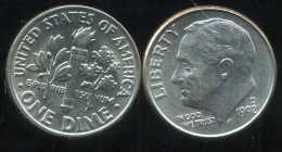 UNITED STATES - USA - 10 Cents  Dimes  1992 D - Bondsuitgaven
