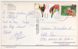 3 Beaux  Timbres, Oiseaux , Sur Carte , Postcard Du 30/6/06 De Viana Do Castelo - 1910-... República