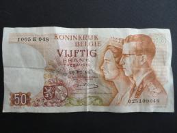 1966 - 16 Mai - Belgique - Billet De 50 Francs - Beaudoin Ier & Reine Astrid - 1005 K 048   025109048 - [ 6] Treasury