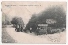 BELGIQUE - Barrage De La Gileppe - Les Trois Routes Conduisant Au Barrage (carte Vendue En L'état - Voir Descriptif ) - Jalhay