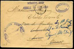 """MAROC - LETTRE EN FRANCHISE MILITAIRE, """" REGION SUD / CERCLE DU HAUT GUIR """", TRESOR ET POSTES / 85 LE 23/8/1913 - TB - Lettres & Documents"""