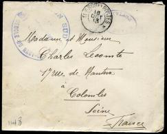 """MAROC - LETTRE EN FRANCHISE MILITAIRE, """" REGION SUD / CERCLE DU HAUT GUIR """", TRESOR ET POSTES / 85 LE 18/10/1913 - TB - Lettres & Documents"""