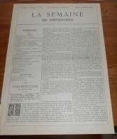 La Semaine Des Constructeurs. N°26. 20 Décembre 1890. Bourse Du Travail à Paris.La Tour Des Gens D'Armes à Caen. - Livres, BD, Revues