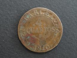 1810 - 4 Quartos Espagne Barcelone Barcelona - Provinciale Munten