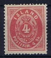 Iceland: 1873, Mi Nr 3  Perfo 14 X  13,50 Not Used (*) - 1873-1918 Deense Afhankelijkheid