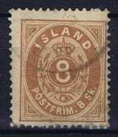 Iceland: 1873, Mi Nr 4 A   Perfo 14 X  13,50 , Used Some Paper On Back - 1873-1918 Deense Afhankelijkheid