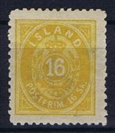 Iceland: 1873, Mi Nr 5 A   Perfo 14 X  13,50 , MH/* - Nuevos