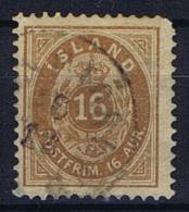 Iceland: 1876, Mi Nr 9 B Perfo 12,75 Used - 1873-1918 Deense Afhankelijkheid