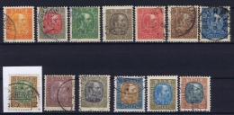 Iceland: 1902, Mi Nr  35 - 47  Used 2 Kr Is MH/* - Usados