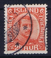 Iceland: 1921, Mi Nr  102  Used - Gebraucht