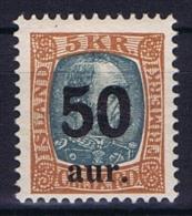 Iceland: 1925, Mi Nr  113 MH/*, Very Light Hinged - 1918-1944 Autonoom Bestuur