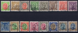 Iceland: 1920, Mi Nr  83 - 98 Used, The 20 A Has A Fold. - 1918-1944 Autonoom Bestuur