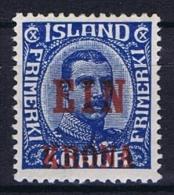 Iceland: 1926, Mi Nr  121 MH/*, Very Light Hinged - 1918-1944 Autonoom Bestuur