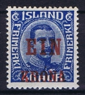 Iceland: 1926, Mi Nr  121 MH/*, Very Light Hinged - Ongebruikt
