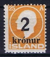 Iceland: 1925, Mi Nr  119 MH/*, Very Light Hinged - Ongebruikt
