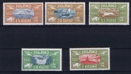 Iceland:  1930 Airmail Mi Nr 142 - 146, MH/*  The 1 Krona Is MNH/** - Poste Aérienne
