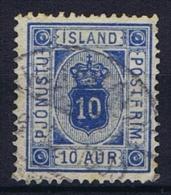 Iceland: 1876  Mi Nr 5 A B  Used Ultramarin,  Perfo 14 : 13,5, Dienstmarke Service - Dienstzegels