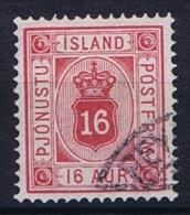 Iceland: 1876  Mi Nr 6 A   Used, Dienstmarke Service - Dienstzegels