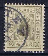 Iceland: 1900  Mi Nr 9  Used,   Dienstmarke Service - Dienstzegels