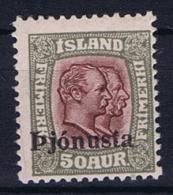 Iceland: 1936  Mi Nr 65,   MH/* , Dienstmarke Service - Dienstzegels
