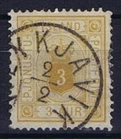 Iceland: 1876  Mi Nr 3 A Used Dienstmarke Service - Dienstzegels