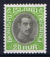 Iceland: 1930  Mi Nr 62 MH/*  Dienstmarke Service - Dienstzegels