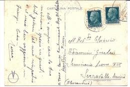 BIGLIETTO POSTALE Da 25 Centesimi   ARENA PO A MONTALTO PAVESE PAVIA 1944 - 4. 1944-45 Repubblica Sociale