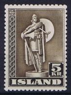 Iceland: 1943  Mi Nr 230 C MNH/** Perfo 11,5 - 1918-1944 Autonoom Bestuur