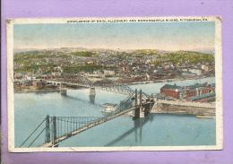 UNITED STATES  -  PITTSBURGH - Confluence Of Ohio, Allegheny And Monongahela Rivers - Pittsburgh
