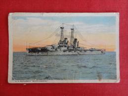 Transport > Ships > Warships  US Battleship North Dakota  Creases & Stain On Front  Not  Mailed  Ref  1101 - Warships