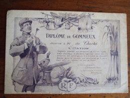 ALB1 -  DIPLÔME DE GOMMEUX DECERNE A MR CHICHI - Humoristiques