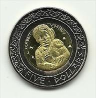 2012 - Santa Ysabel 5 Dollars, - Monete