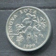 Monnaie Pièce CRAOTIE 2 Lipa De 1999 Très Difficile à Trouver - Croatia