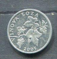 Monnaie Pièce CRAOTIE 2 Lipa De 2005 Très Difficile à Trouver - Croatie