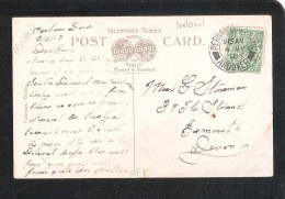 1918 MILITARY Perham Down Camp ANDOVER POSTMARK ON BANK PLACE MALLOW POSTCARD - Marcophilie