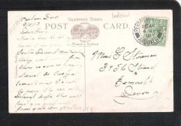 1918 MILITARY Perham Down Camp ANDOVER POSTMARK ON BANK PLACE MALLOW POSTCARD - Postmark Collection