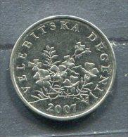 Monnaie Pièce CRAOTIE 50 Lipa De 2007 - Croatie