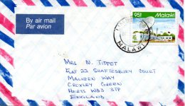 MALAWI. N°619 De 1992 Sur Enveloppe Ayant Circulé. Année Internationale De L'Espace/Station Terrestre. - Briefe U. Dokumente