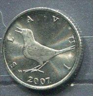 Monnaie Pièce CRAOTIE 1 Kuna De 2007 - Croatia