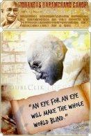 Mohandas Gandhi Postage Card 6988-2 - Politicians & Soldiers