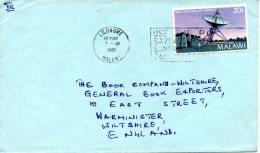 MALAWI. N°368 De 1981 Sur Enveloppe Ayant Circulé. Station Terrestre. - Briefe U. Dokumente