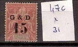 Guadeloupe 47c * Côte 31 € - Guadeloupe (1884-1947)