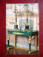 Candelabra , 1830s - Russian Malachite - The Hermitage , Leningrad - 1980 - Russia USSR - Unused - Museos