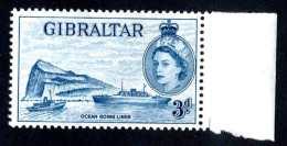 6142-x  Gibraltar 1958  SG #150b Greenish Blue ~mnh** Offers Welcome! - Gibilterra