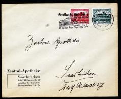 A2401) DR Ersttagsbrief FDC mit Mi.673-674 mit Werbestempel Saarbr�cken 9.10.1938 !