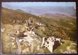 PORTES (30).VUE AERIENNE.LE CHATEAU FEODAL.CIRCULE 1967. - Autres Communes