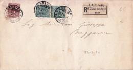 STORIA POSTALE BUSTA POSTALE RACCOMANDATA AL SIGNOR MARCONI GIUSEPPE X  CAGLIARI 23/2/1914 - Posta
