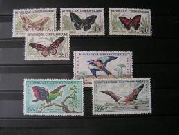 == Afrika Ca. 1960 Schmeterlinge Buterflies   Vögel Osieaux   8-14 ** MNH  Ca. € 31,00 - Zentralafrik. Republik