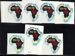 Sierra Leone Yvertnrs: 328/34 + Ar.61/67 Postfris - Sierra Leone (1961-...)