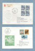 SUISSE 1967 N° 783 787 793 801 (YT) 2 ENVELOPPES EUROPA ET JOURNEE DU TIMBRE - Suisse